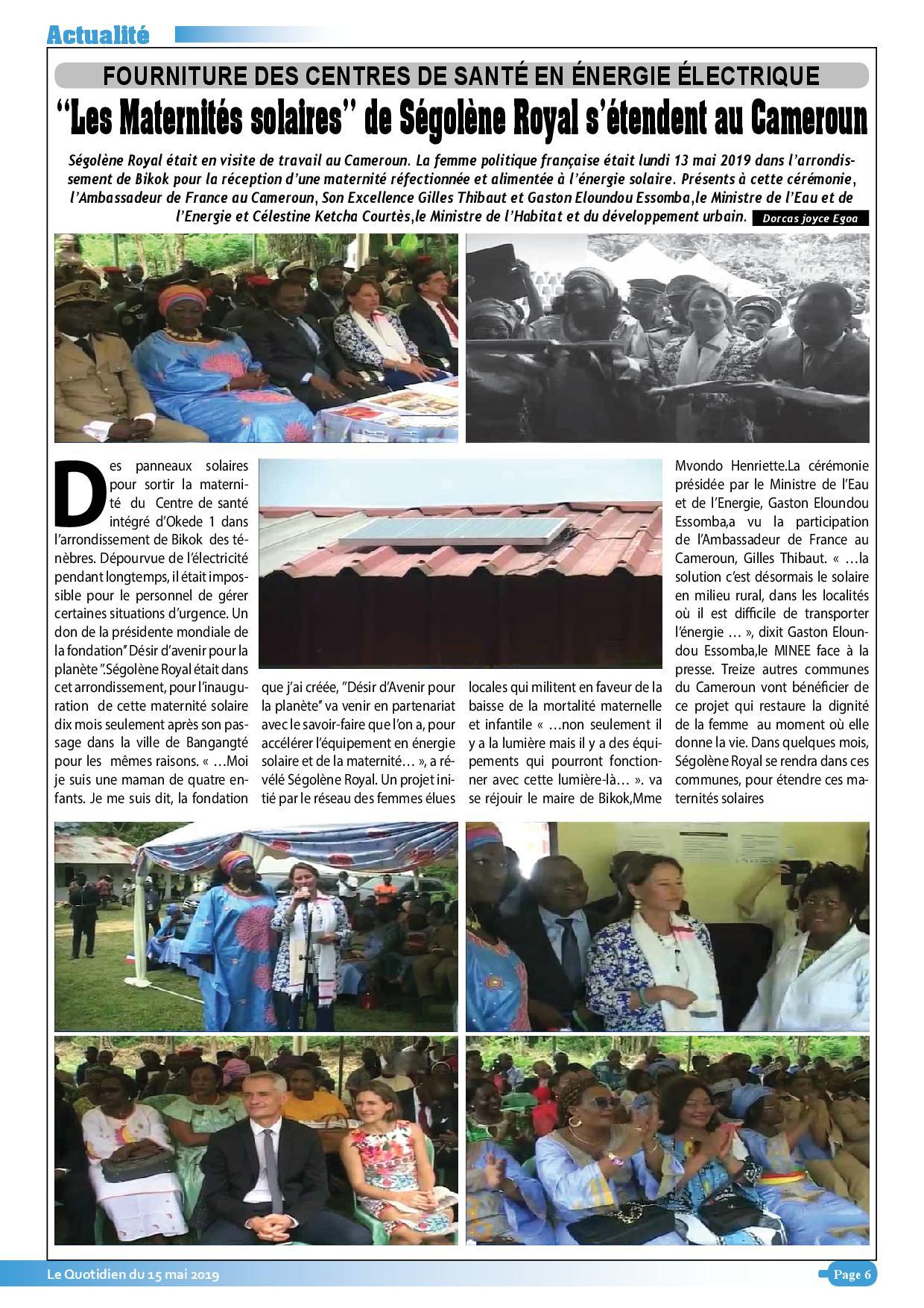 Le Quotidien du 15 mai 2019 VN1